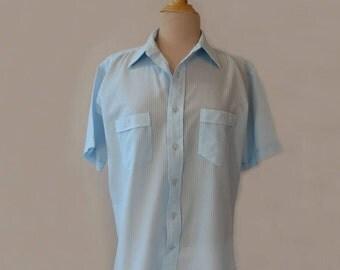 Retro Blue See Through Shirt - Jordan Christopher