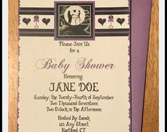 Nightmare Before Christmas Inspired Baby Shower Invitation