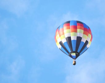 float along - hot air balloon dreamy sky photography