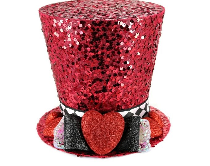 Featured listing image: Valentines Day, Valentine decor, Valentines day, Top hat, Hearts, Bow, Valentines day gift