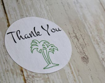 PALM TREE,  Beach Wedding, Wedding Favor Sticker, Thank You Sticker, Stickers