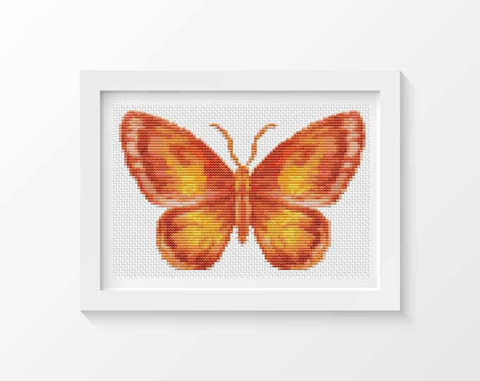 Mini Cross Stitch Kit, Embroidery Kit, Art Cross Stitch, Butterfly Series The Flame (TAS127)