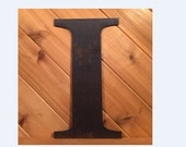 """Large 24"""" Raw or Painted Metal Letter I by PrecisionCut on Etsy"""