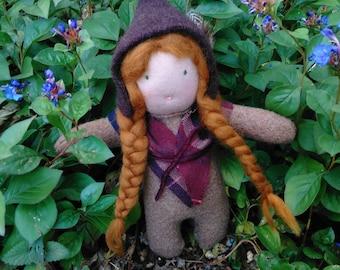 Handmade Woodland Doll - Rowan