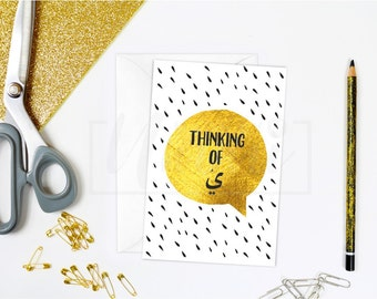 Thinking Of (you), Arabic greeting card, islamic card, A6, Quirky Me Collection