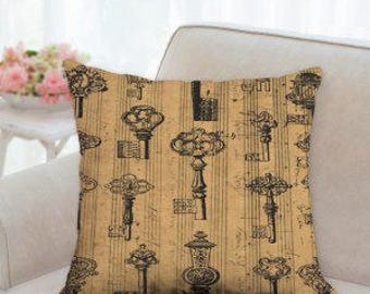 French Keys Designer Pillow