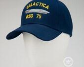 Battlestar Galactica Hat - Galactica BSG 75 - Embroidered Sci-Fi Baseball Cap - Naval Hat Inspired