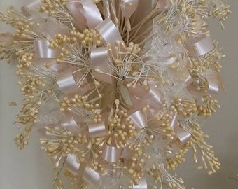 Wedding Bouquet Bridal and  pearl Wedding Bridal  Crown for Veil