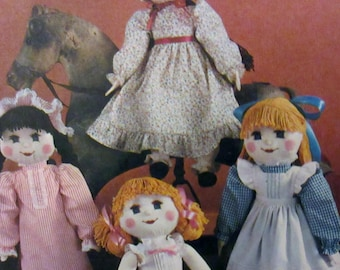 """Vintage Simplicity 1983 Stuffed Doll and Clothes Sewing Pattern 21"""" Doll #6141  UNCUT"""
