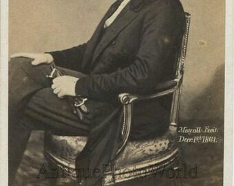 Prince Albert UK royalty antique CDV royal photo Great Britain