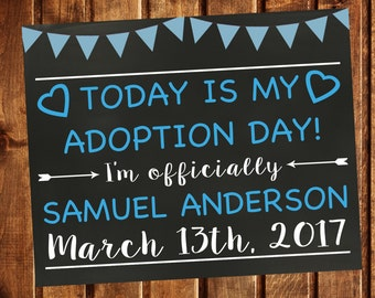 Adoption Announcement, Adoption Day, Printable, Adoption Gifts, Adoption chalkboard sign, Adoption Printable, Adoption card