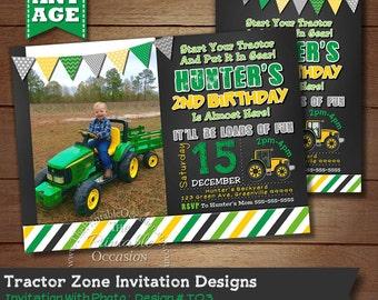 Tractor Birthday Invitation, Farm Invitation, Tractor Invitation, Printable Invitation, Tractor Party, Tractor Birthday, Boy Birthday Invite