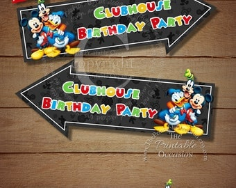 11x14 Mickey Mouse Clubhouse Party Sign, Mickey Mouse Door Sign, Clubhouse Door Sign, 11x14 Printable DIY Sign