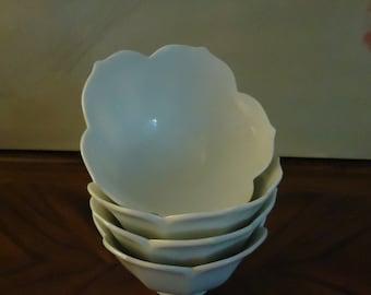 Vintage Set of 4 Lotus Bowls