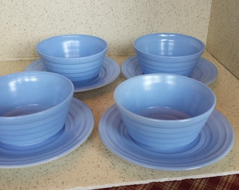 Hazel Atlas Moderntone Bowls and Plates