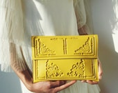Clutch bag / yellow clutch bag / clutch bag yellow / yellow clutch purse / handbag in yellow / bright yellow clutch / splash of sunshine