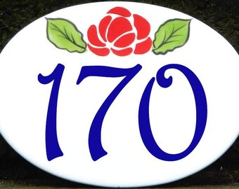 Oval house number plaque, Small door numbers, Welcome sign, Outdoor sign, Porcelain sign, Oval address numbers, Welcome sign, Door sign.