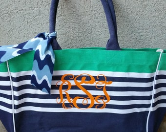 Personalized Oversized Striped Bag
