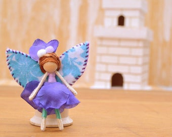 Waldorf Fairy Doll - waldorf fairies, miniature fairy doll, minitaure fairies, flower fairy doll, flower fairies, small fairy doll