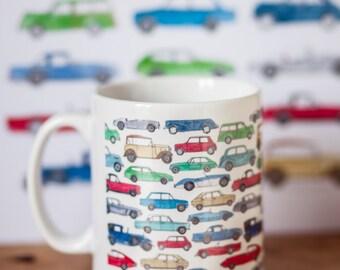 Classic Car Mug // China Mug // Car Lover // Vintage Cars // Gift Box