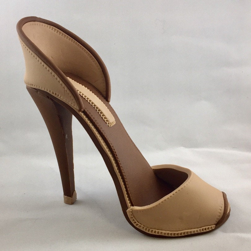Gumpaste High Heel Shoe/ Cake Topper/Brown fondant shoe