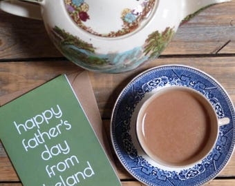 Happy Father's Day from Ireland card, Fathers day Australia, USA, made in Ireland