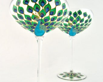 Peacock Crystal Champagne Coupe