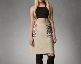 Estyn- Embroidered Pocket Skirt