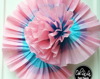 Double Edged Ruffled Crepe Paper Streamer