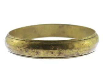 Vintage Brass Bracelet, Thin Brass Bangle Bracelet