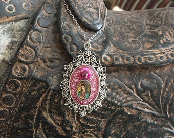 Virgen de Guadalupe Nicho Necklace Pendant