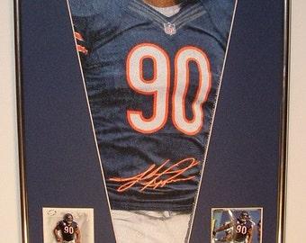 Chicago Bears Julius Peppers Pennant & Cards...Custom Framed!!!