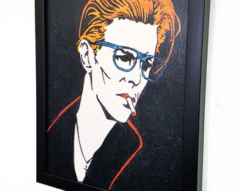 David Bowie -Under Pressure- Giclee Canvas Wall Art -Framed