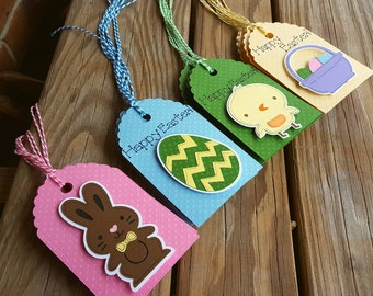 Easter Gift Tags, set of 4