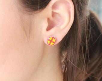X-Men Comic Book Stud Earrings