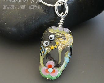 Lampwork bead pendant  |  made by silke  |  Kitty Cat   |  art glass  |  Catlover