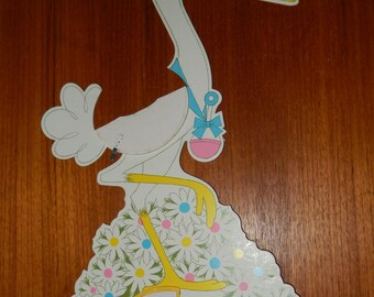 Vintage Stork Baby Shower Paper Honeycomb Centerpiece Decoration by Perkins