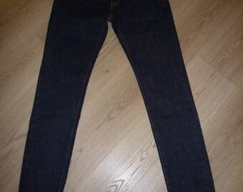Raw Denim Cotton Jeans.
