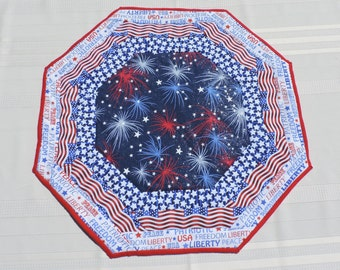 Fireworks Explode on Quilted Table Runner