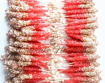 Indian Wedding Favor Bollywood Party Diwali Gift Cookies Red Gold
