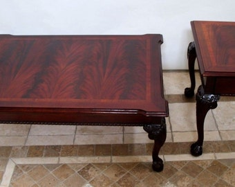 Thomasville CHIPPENDALE MAHOGANY COFFEE And End Table Ball Claw Matching  SetInsured Safe Nationwide Shipping Available