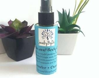 Lavender + Orange Body Oil, Anti-Aging Oil, Bath Oil, Massage Oil, Eczema Oil, Psoriasis Oil, Healing Oil, Nourishing Oil, Dry Oil