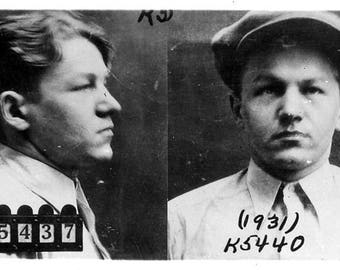 "Mugshot of ""Baby Face"" Nelson from 1931"