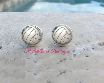 Volleyball Earrings, Monogram Volleyball Jewelry, Volleyball Accessories, Personalized Volleyball,Gifts for Her, Gifts under 10, MB326