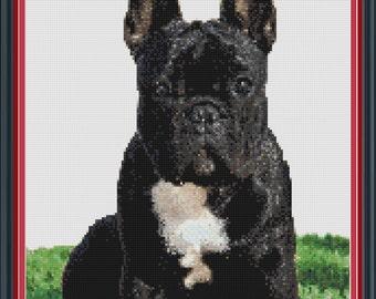 French Bulldog Cross Stitch PDF Pattern