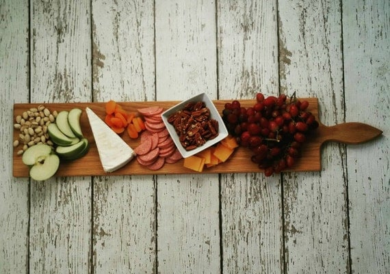 36 Inch- Large Serving Platter- Cheese Board- in Oak- by Red Maple Run