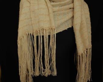 Hand Woven in the UK Wedding Wrap in Silk, Angora and Alpaca