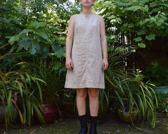 Sand Linen Summer Dress