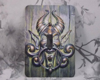 Metal Devil Light Switch Cover - 1T Single Toggle - Devilish Door Knocker