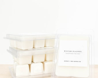 WINTER FLANNEL Soy Wax Melts   Scented Soy Tarts, Soy Candle Melt, Scented Wax Cubes